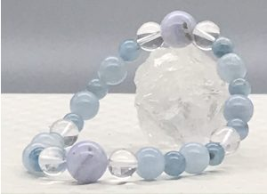 blue lace agate and aquamarine cropped