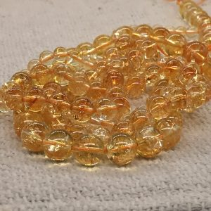 Citrine Sphere Beads